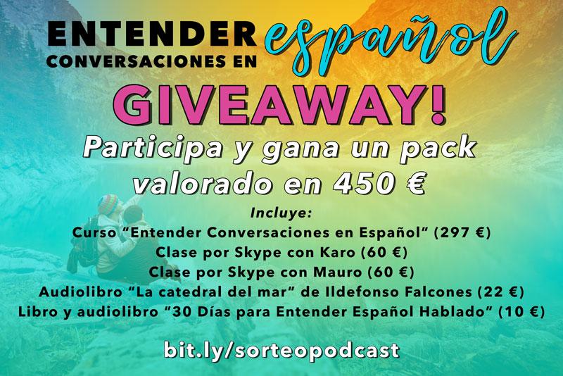 Gana este pack de herramientas para mejorar tu español valorado en 450 € en este link: http://bit.ly/sorteopodcast
