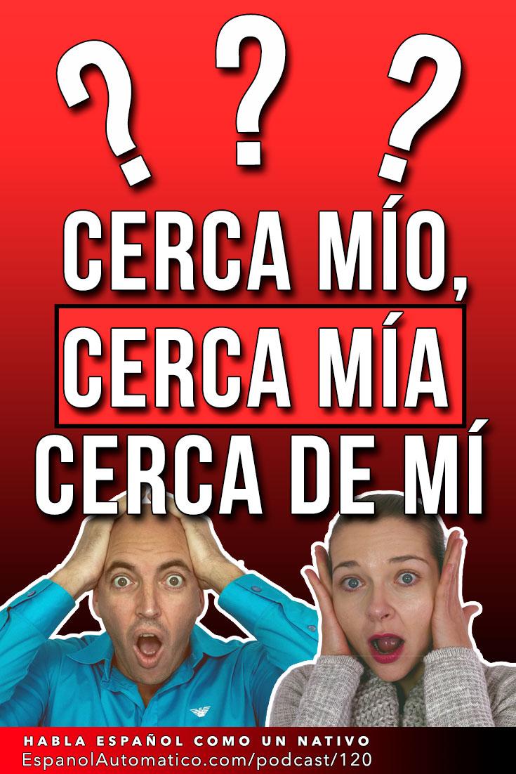 "Errores de los nativos: ¿""Detrás mío"", ""detrás mía"" o ""detrás de mí""? I Gramática en español   [Podcast 120] Learn Spanish in fun and easy way with our award-winning podcast: http://espanolautomatico.com/podcast/120 REPIN for later #teachspanish #spanishteacher #speakspanish #spanishlessons #learnspanishforadults #learnspanishforadultsfree #learningspanish #learningspanishlanguage #spanish #vocabularyactivities  #gramatica"