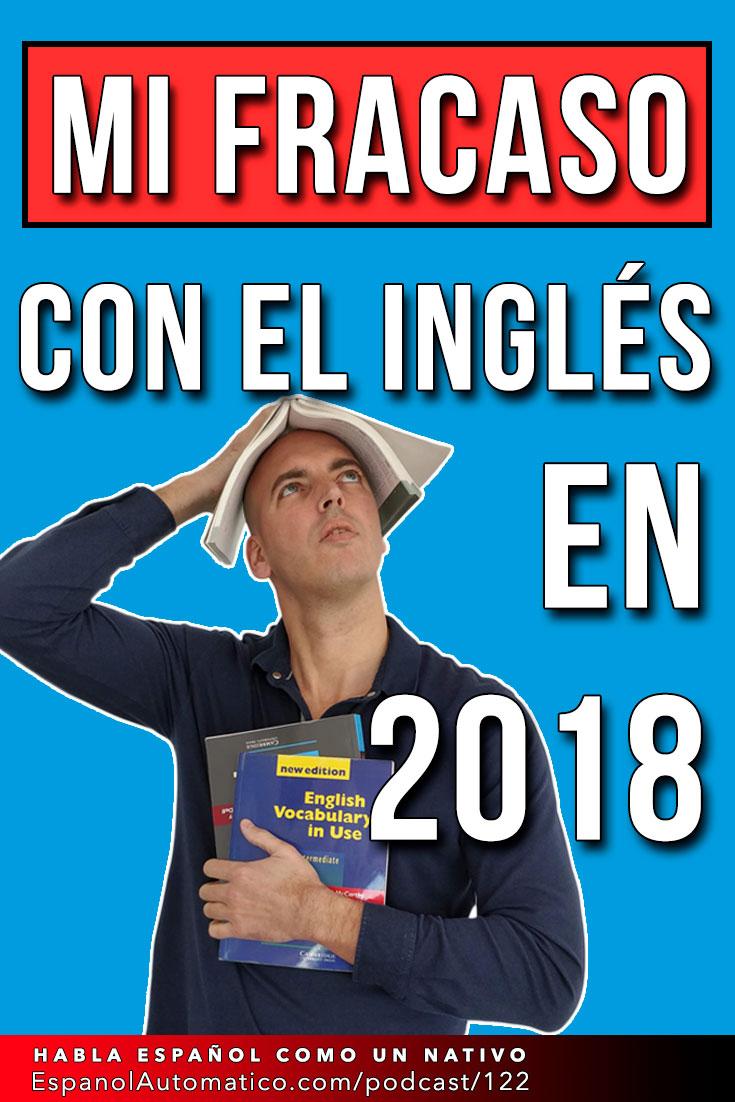 Para saber cómo aprender español es importante aprender de nuestros errores. Confieso avergonzado que el año pasado he fracasado con mi inglés. Pero se puede sacar algo positivo de ello. En el vídeo de hoy te daré unos consejos sobre cómo aprender español analizando mi fracaso con el inglés. http://espanolautomatico.com/podcast/122 #teachspanish #spanishteacher #speakspanish #spanishlessons #learnspanishforadults #learnspanishforadultsfree #learningspanish #learningspanishlanguage
