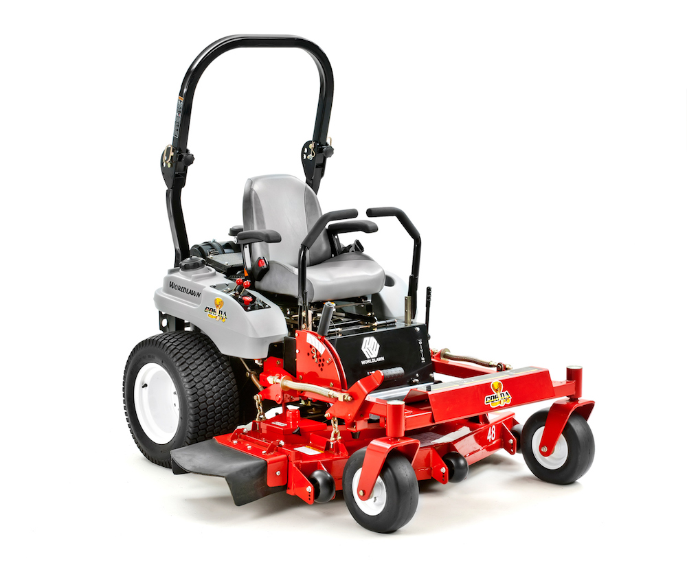 Cobra - The Cobra series is a commercial line of mowers by Worldlawn Power Equipment. This line of mowers is powered by Kawasaki FX series engines and available in multiple models.