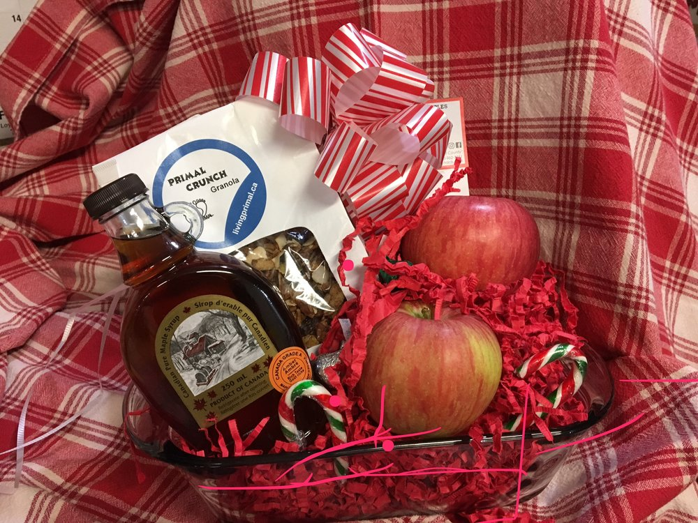 Best Baked Apples - $45 4 large Spy Apples 1 400g Primal Crunch Granola 1 250ml Maple Syrup All beautifully arranged in a glass loaf dish