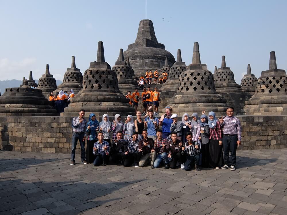 Group Shot Borobudur   Indonesia