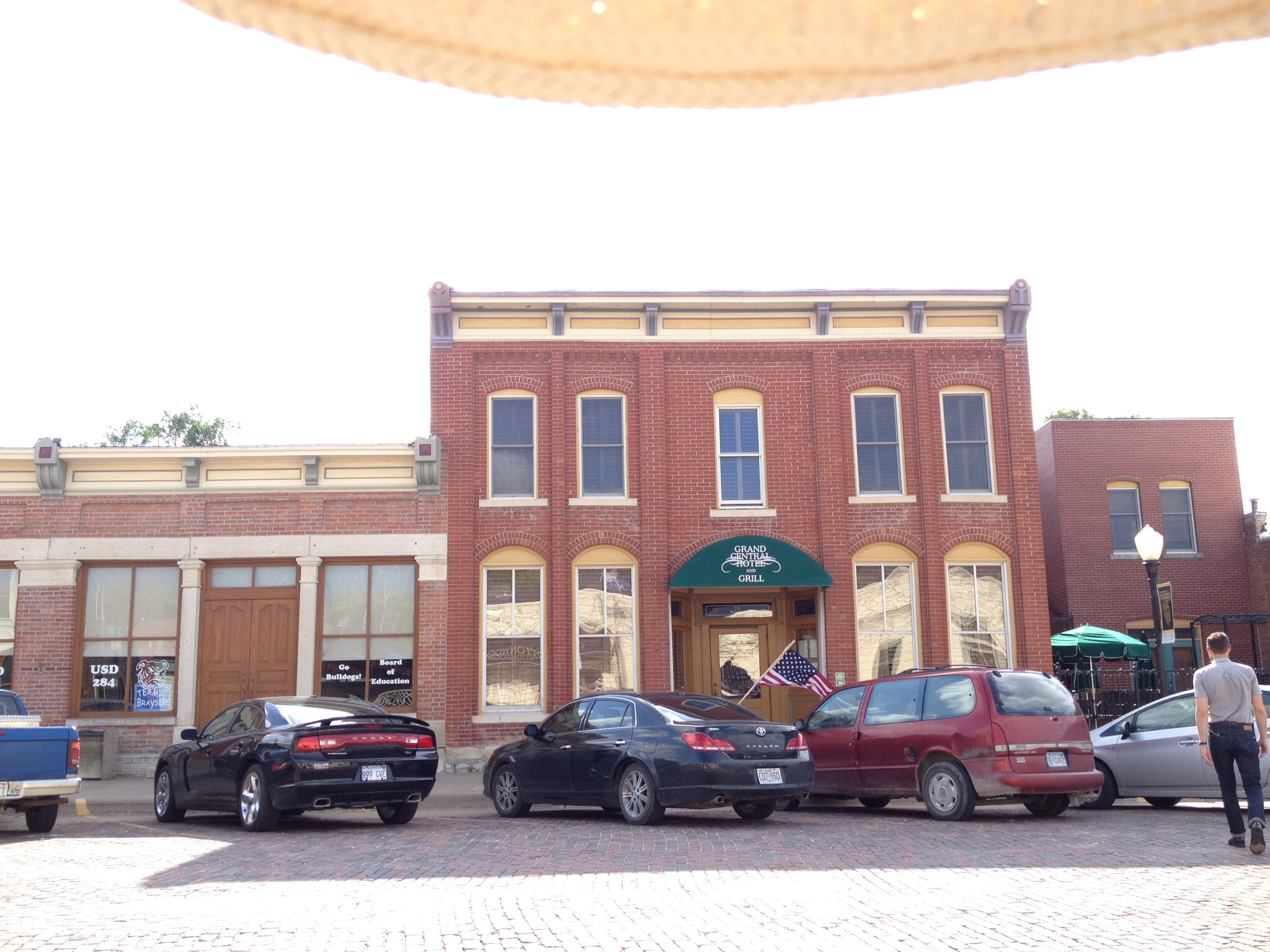 We stayed at the lovely and historic Grand Central Hotel in Cottonwood Falls.
