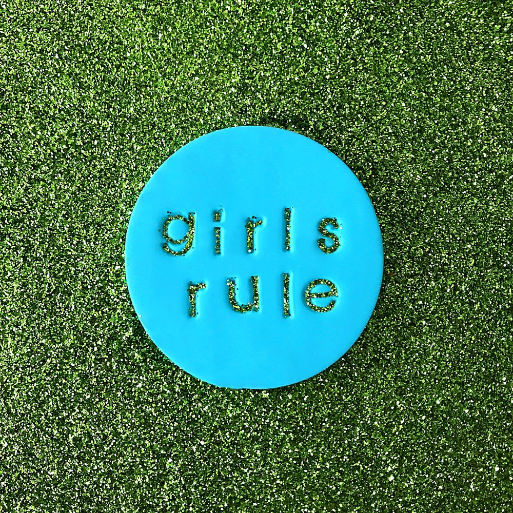 GIRLS RULE  pin $15