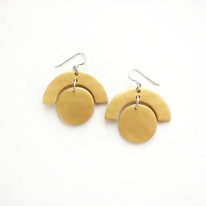 CIRCLE + ARCH  earrings $15