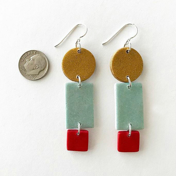 ART SCHOOL EARRINGS  $15