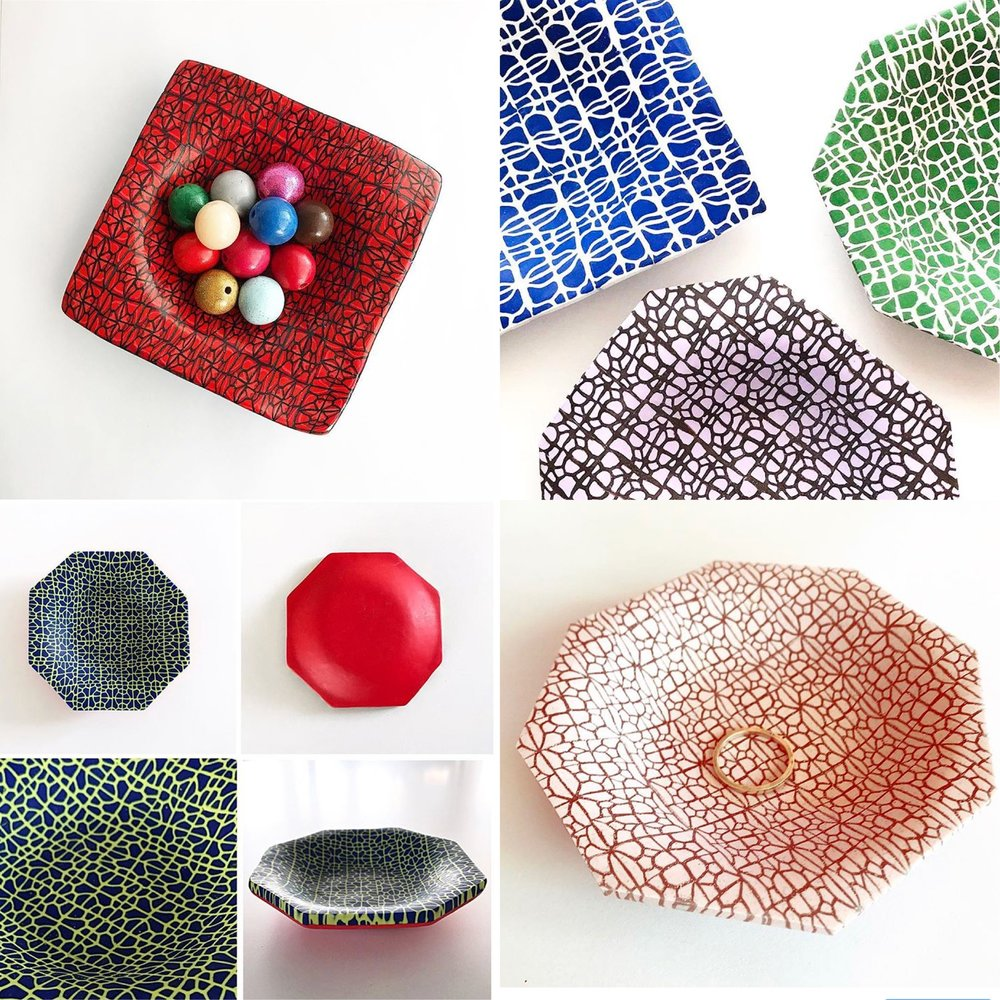 WEB MATRIX PATTERN DISHES  $35