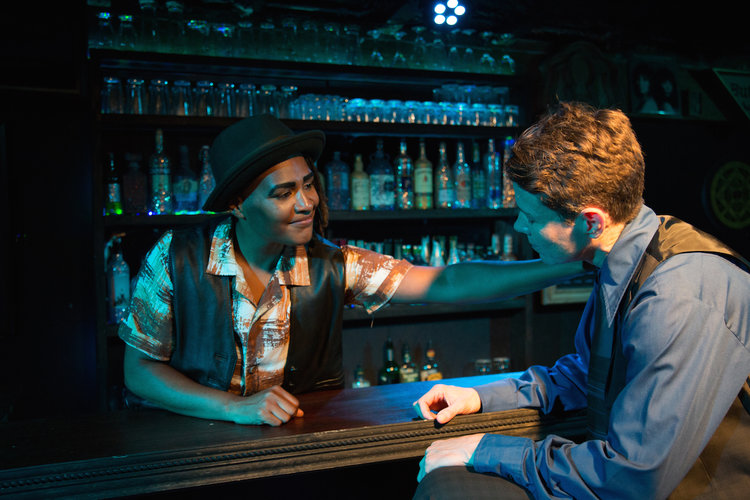 Inside of Franki's bar, performers interact with previous generations of  queer family through voice-over pulled directly from Last Call's oral  history ...
