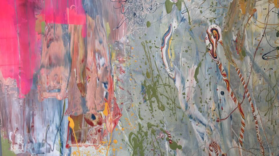 MAY 12th-16th  Title: Transcending. Part 1  Artist: Ema Mano Epps  Mixed Media on Aluminium