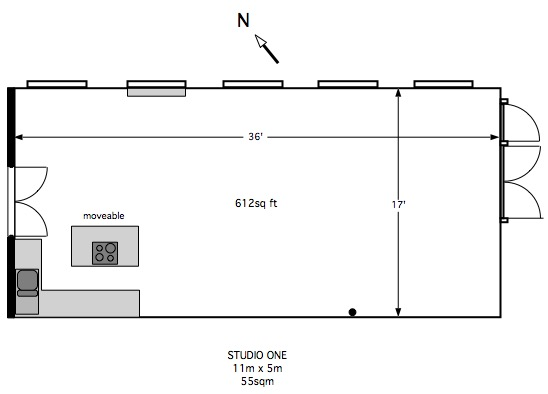 studio one floor plan