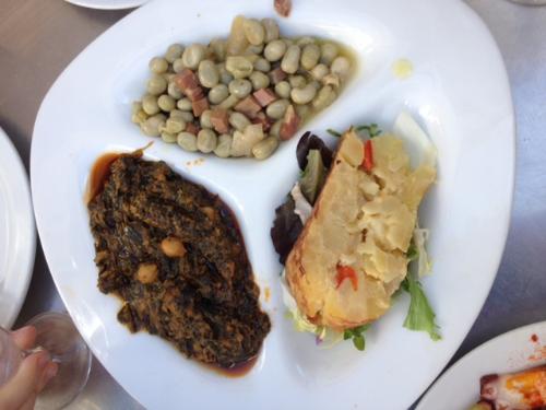A trio of vegetarian tapas