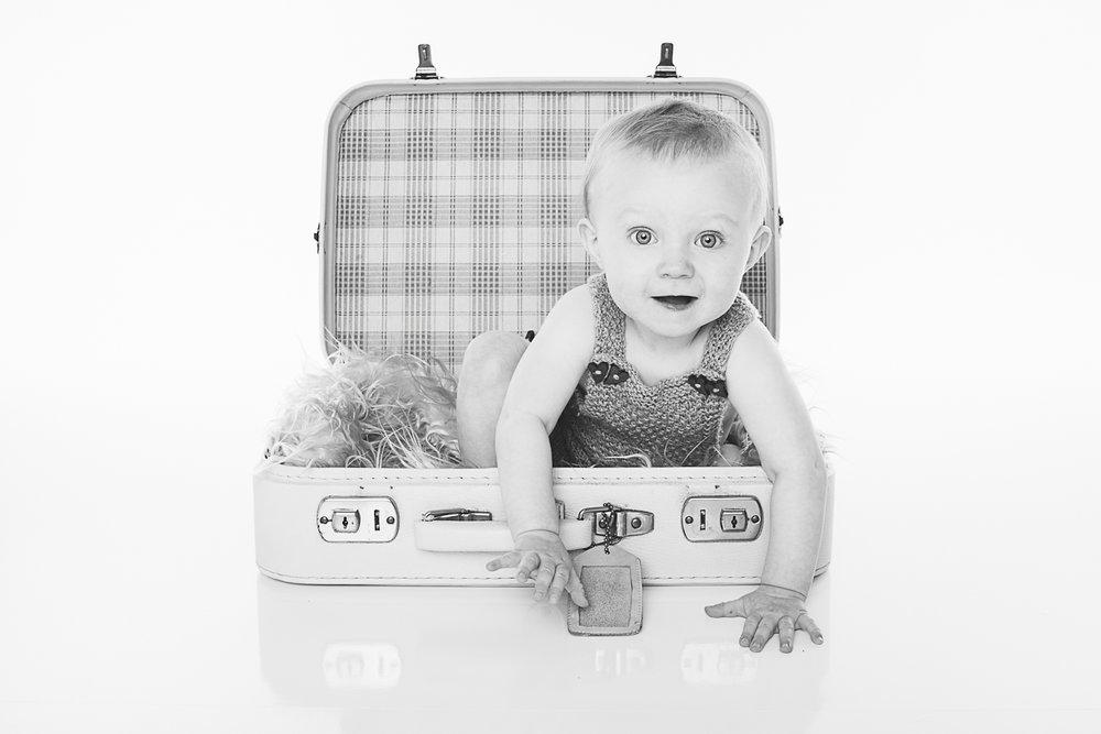 Jentefotografering i koffert