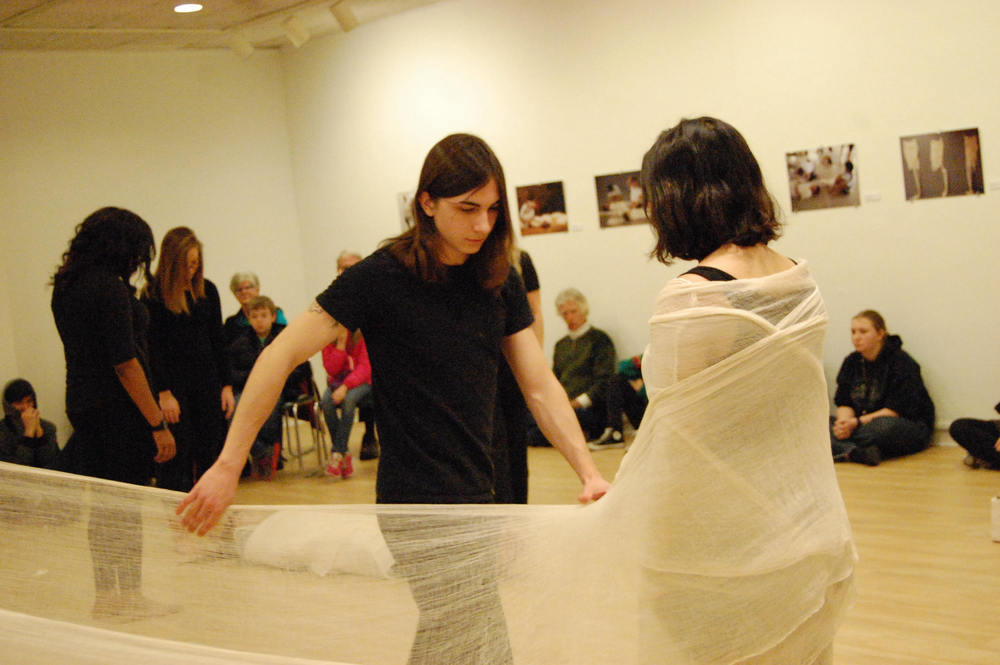 Cocoon performance at Bringham Young Gallery, U of MO.