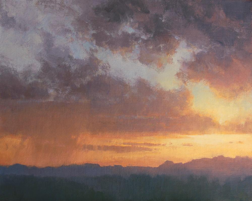 Sunset Shower 16X20