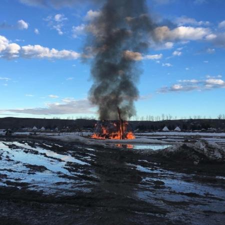Photo credit: Liz Mckenzie, Water Protector, image via.