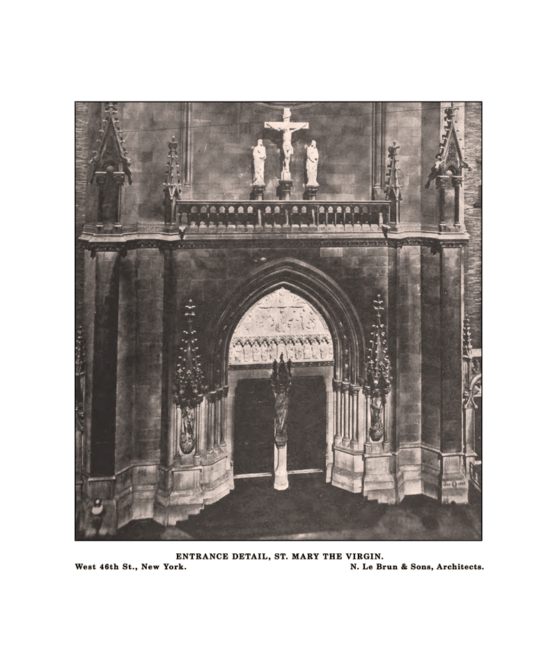 The front entrance to Saint Mary's in the late 1800s.