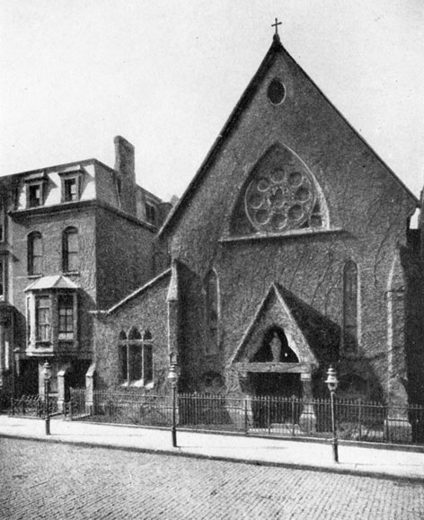 The Church of Saint Mary the Virgin was formerly located on 45th Street, where the Booth Theatre now stands.