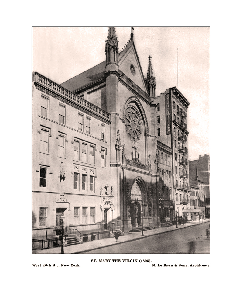 The exterior of Saint Mary's in 1896