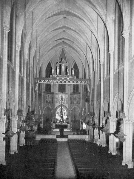 The interior of Saint Mary's in the 1930s