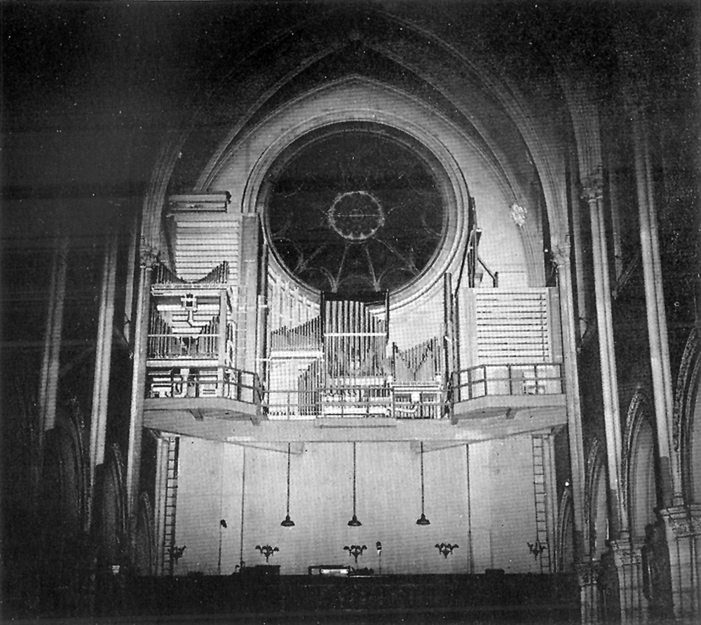 The organ loft in 1932