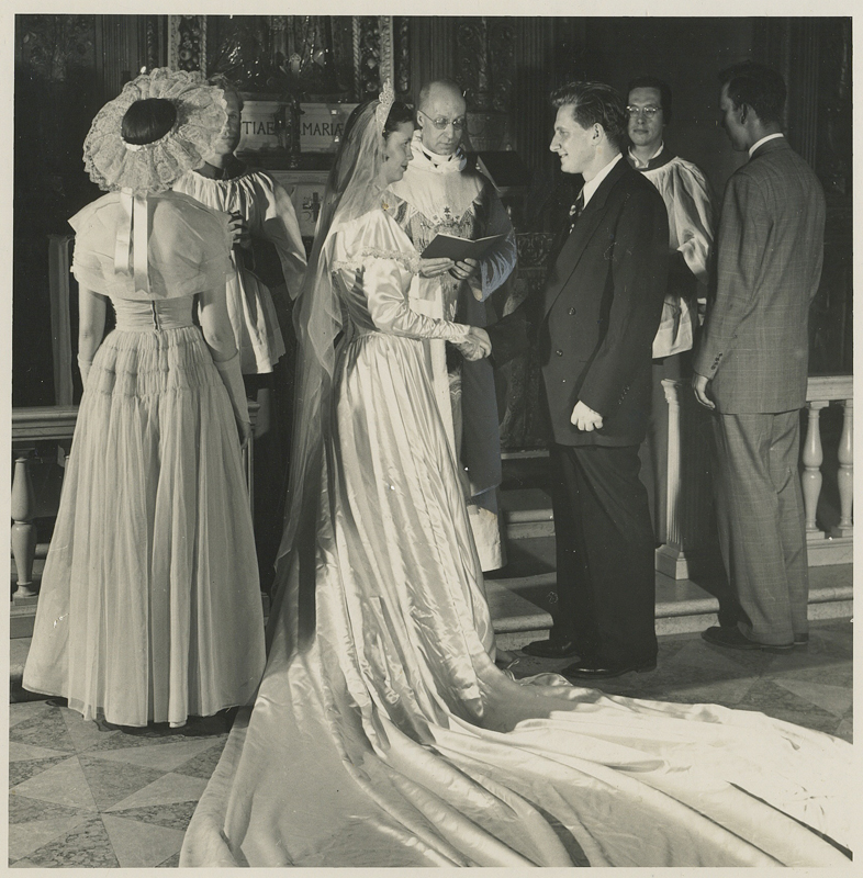 Wedding in Saint Joseph's Chapel in the 1940s