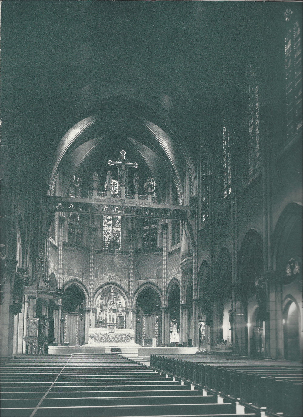 The interior of Saint Mary's in the 1950s