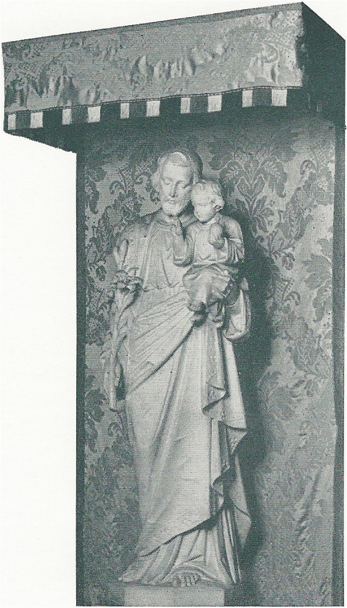 Statue in Saint Joseph's Chapel, Saint Mary's, 1950s