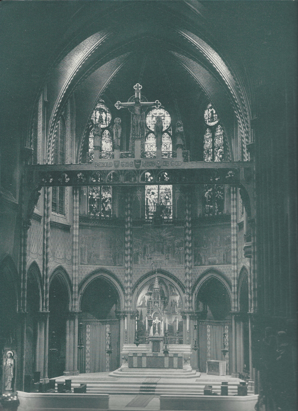 Interior of Saint Mary's in the 1950s