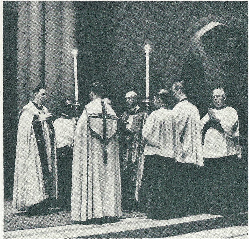 Solemn Evensong at Saint Mary's in the 1960s