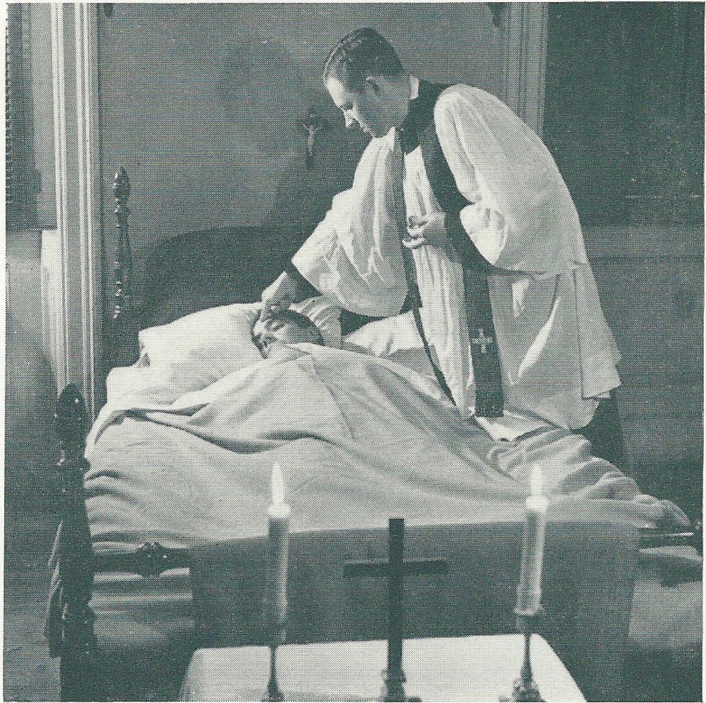 Saint Mary's clergy visiting the sick - 1950s