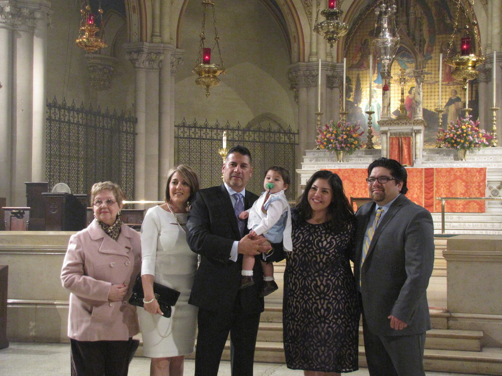 Benjamin Kenobi Martinez, Baptized on Pentecost Sunday 2016, with his family after church