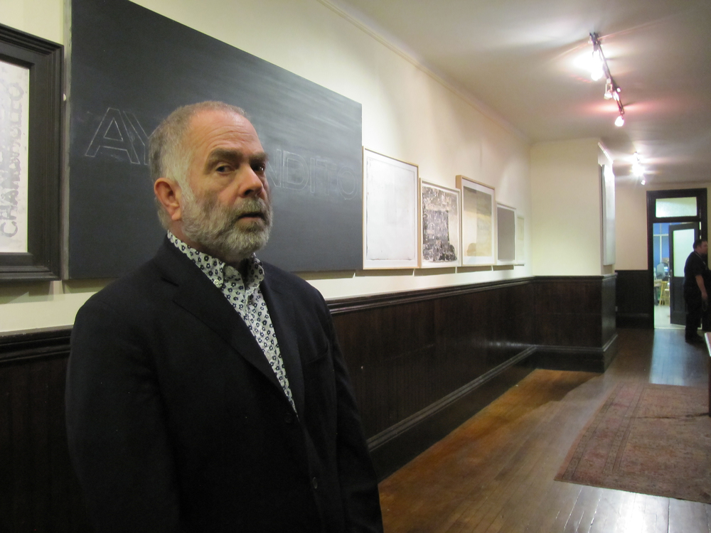 Curator Jose Vidal at the SMV Art Gallery