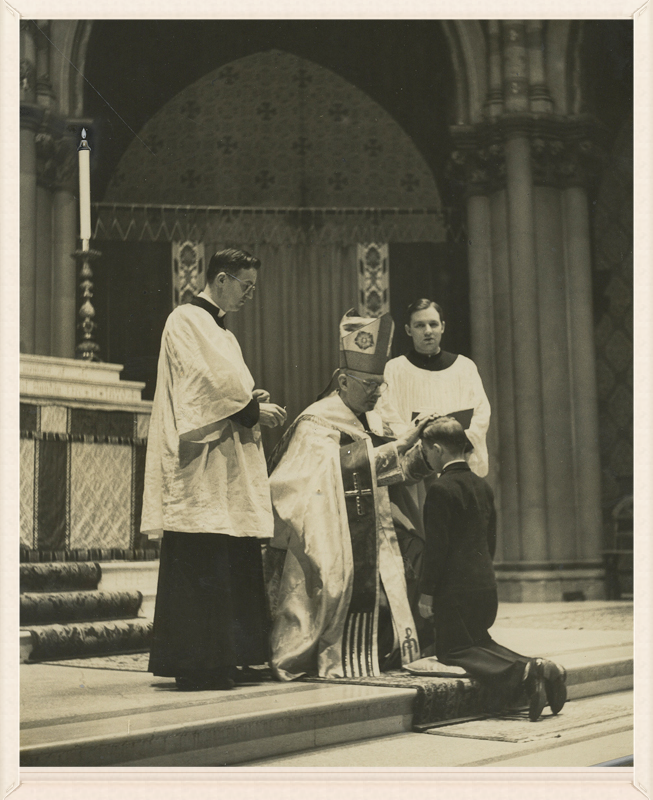 Confirmation at Saint Mary's in the 1940s