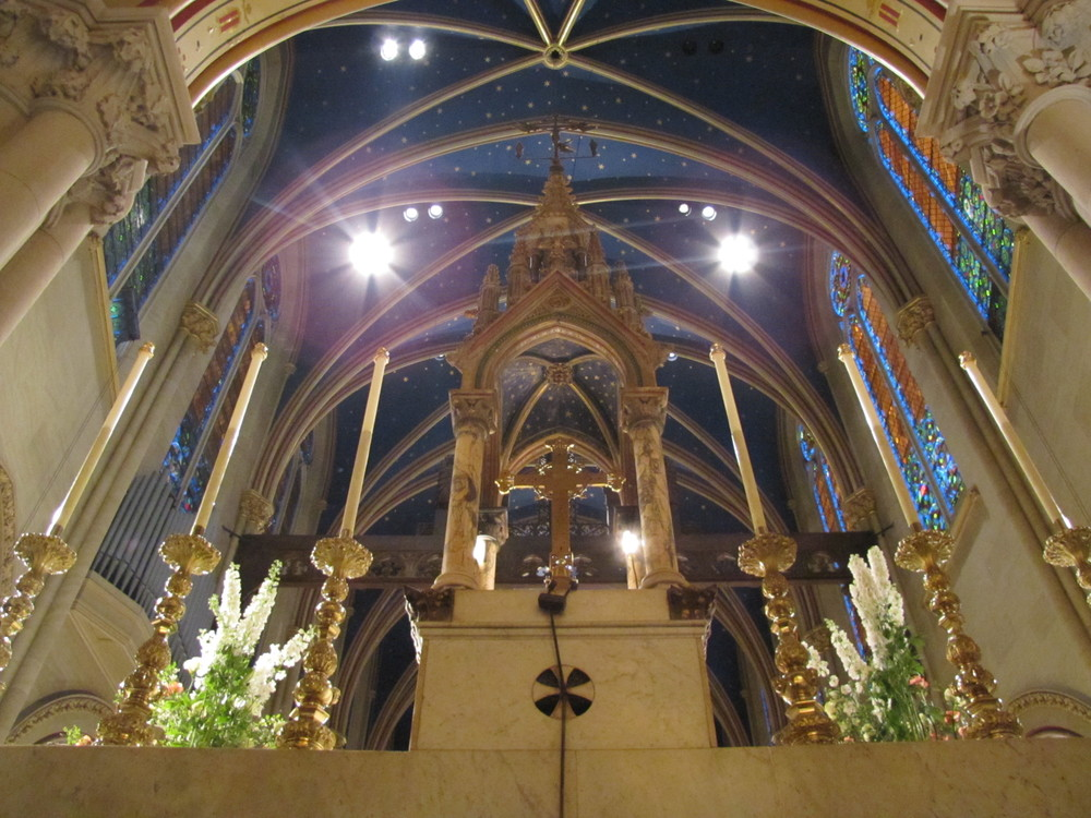 The view from behind Saint Mary's High Altar