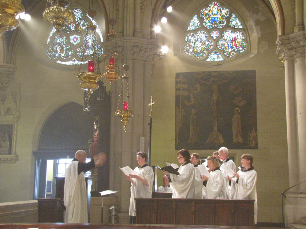Dr. David Hurd conducting the Saint Mary's Choir