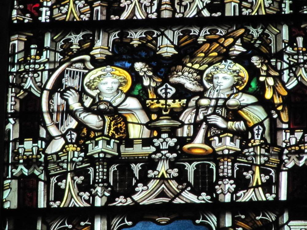 Detail from one of the lancet windows at Saint Mary's