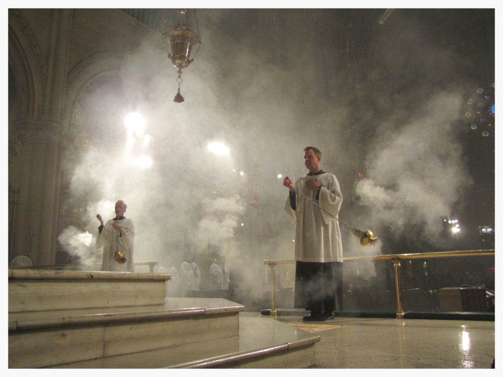 Incense during the Te Deum on Trinity Sunday
