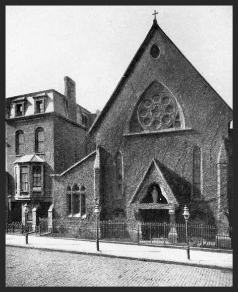 The Church of Saint Mary the Virgin was located at 228 West 45th Street from 1870-1895.
