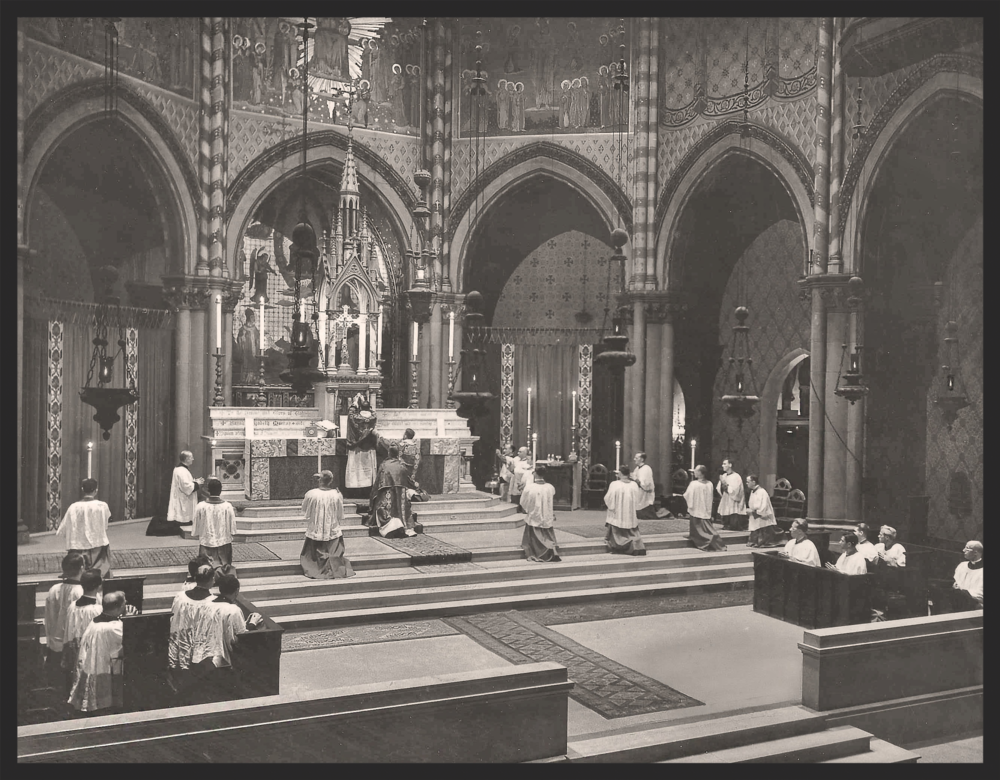Armistice Day Mass at Saint Mary's in 1944
