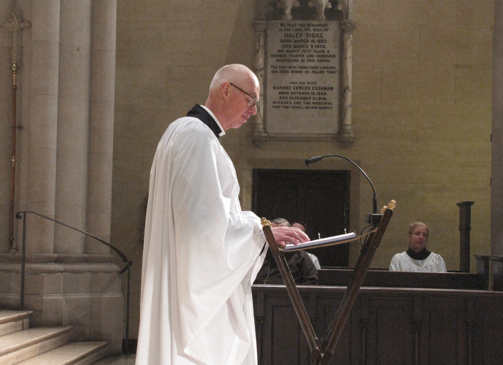 The Reverend Stephen S. Gerth, Rector of Saint Mary's, at Evensong