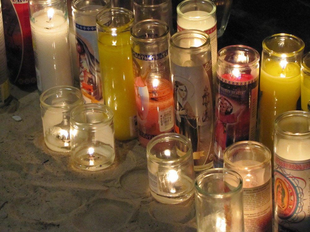 Candles at the Calvary Shrine