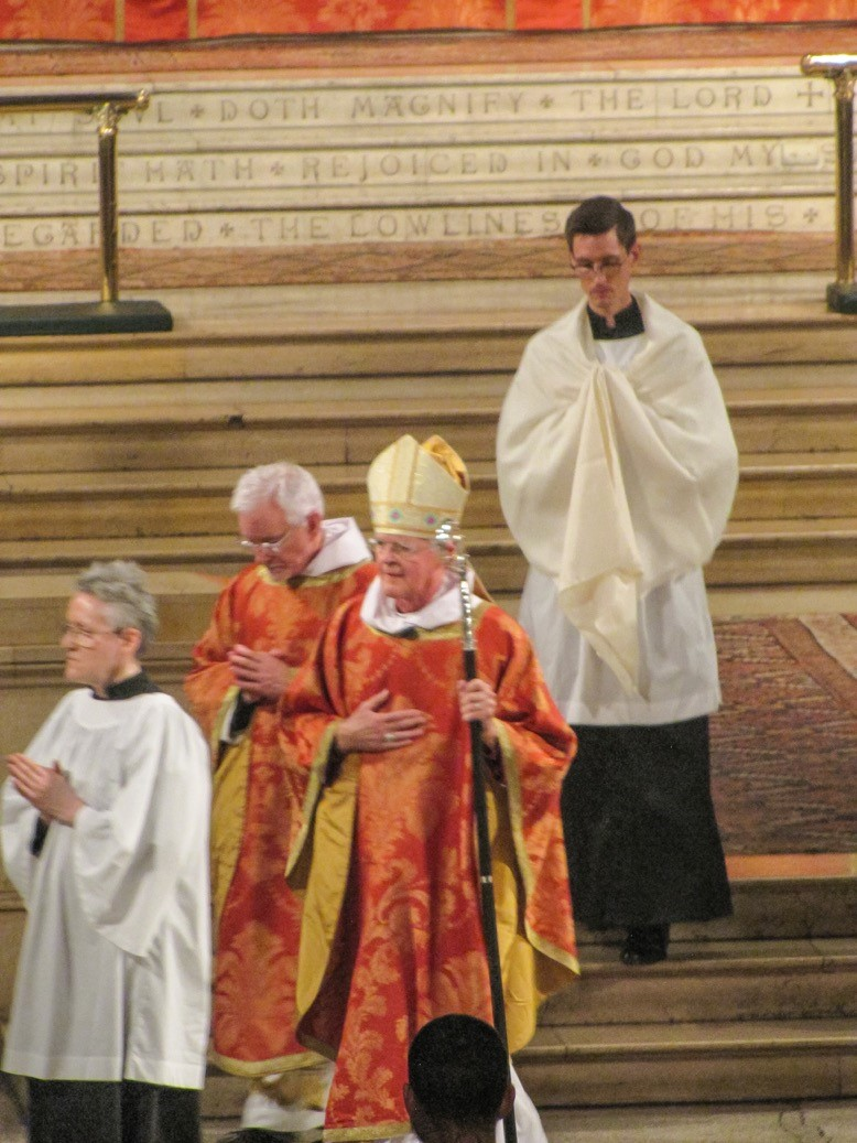 Bishop Frank Griswold Procession to the pulpit Solemn Mass, All Saints' Day