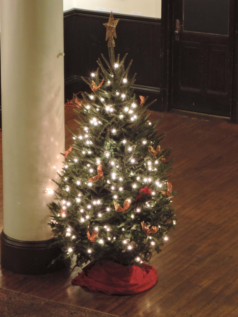 Christmas tree in Saint Joseph's Hall
