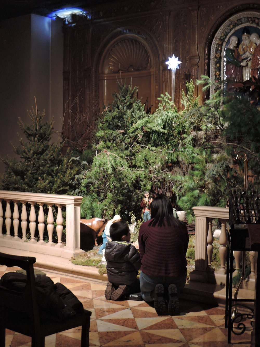 At the Creche after Mass