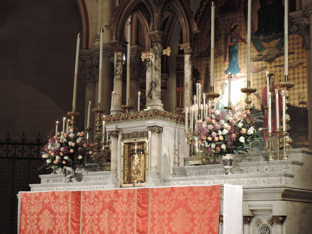 The High Altar prepared for Solemn Pontifical Mass