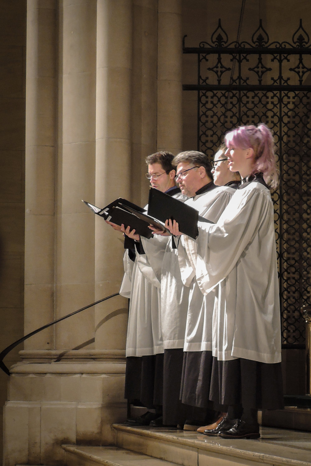 At Solemn Evensong on Candlemas Eve, a quartet sang the canticles and a motet.