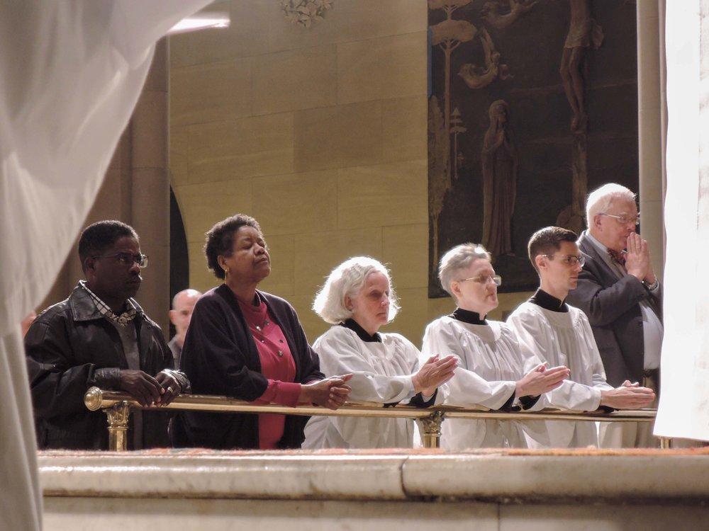Communion at Solemn Mass