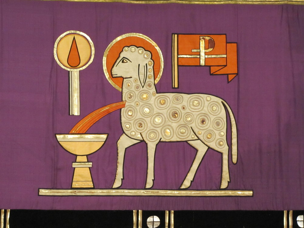 Lent high altar frontal detail