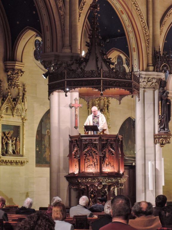The Rector was celebrant and preacher at the Solemn Mass on the Eve of the Annunciation.