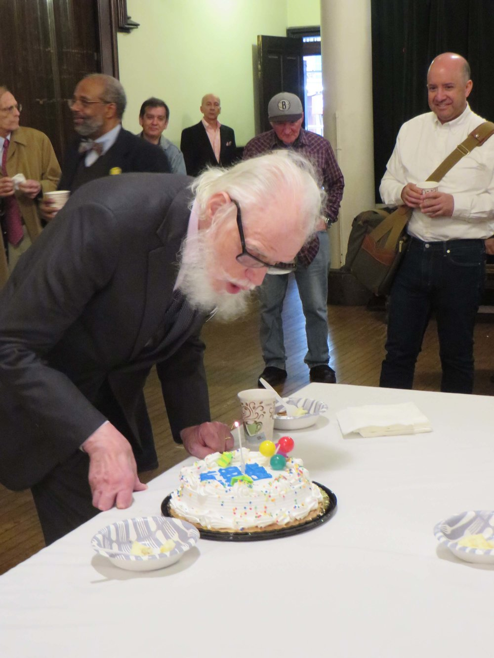 There were cakes to celebrate Hardy Geer's 85th birthday.